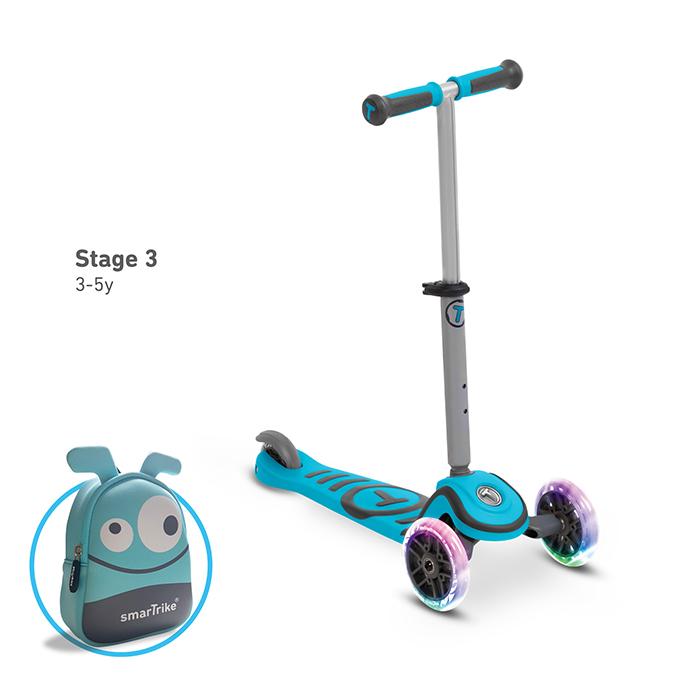 T1炫亮我行3 steps滑步車/天藍-3