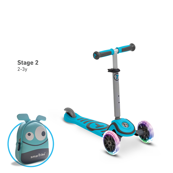 T1炫亮我行3 steps滑步車/天藍-2